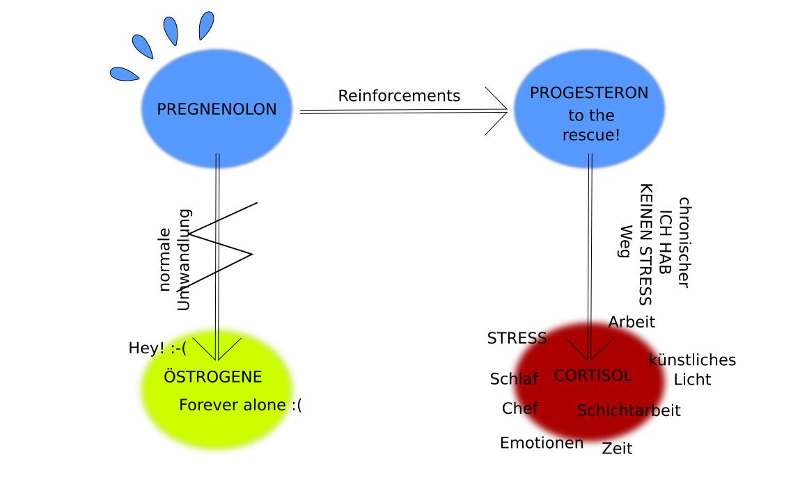 zu wenig östrogen